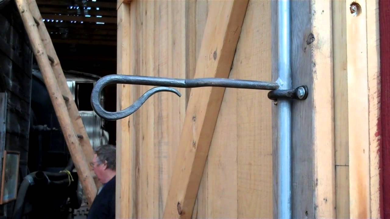 Installing Hand Forged Barn Door Latches At Machinery Hall