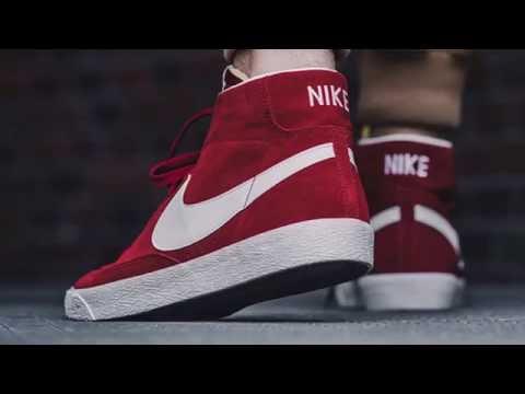 NIKE SB BLAZER MID (TEAM RED) - YouTube