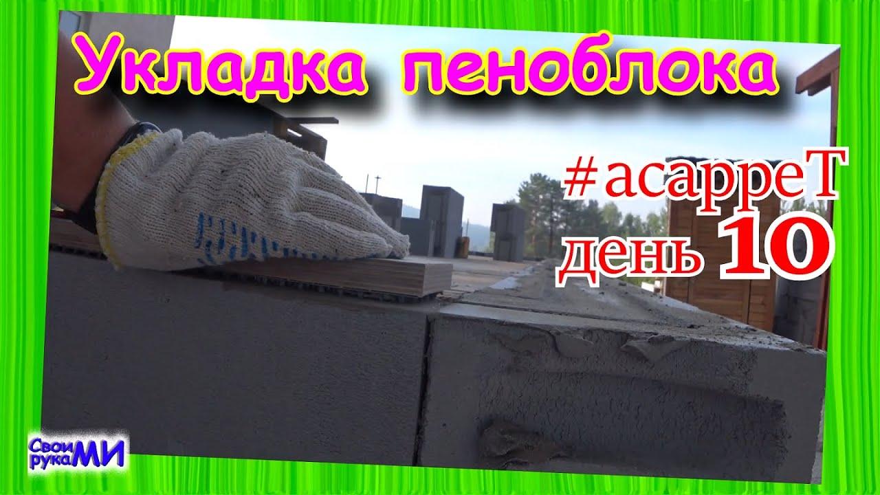 Ложим-кладём газоблок. #асарреТ день 10
