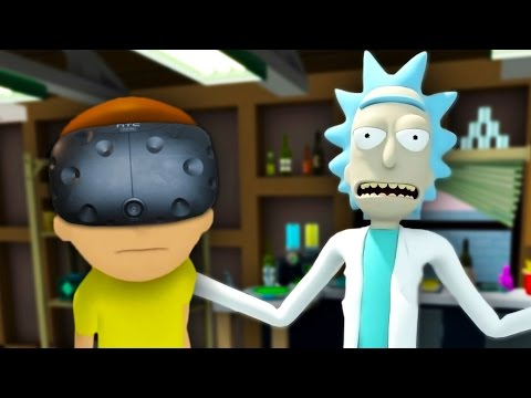 WUBBA LUBBA DUB DUB | Rick And Morty VR #1 (HTC Vive Virtual