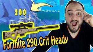 FORTNITE BUG + Epic SIEG with 290 Dmg critical head hit (Battle Royale)