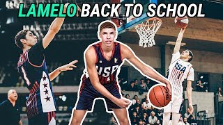 LaMelo Ball Is Going BACK TO HIGH SCHOOL At Spire Institute! Full JBA USA Highlights!