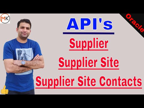 API To Create Supplier And Supplier Site In Oracle Apps | Oracle Shooter