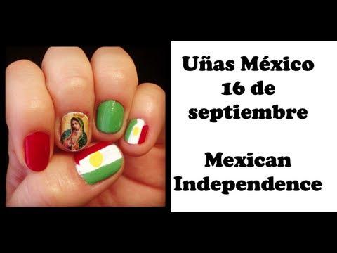 Uñas Fiestas Patrias - Mexico 16 de Septiembre Nail Art - Mexico ...