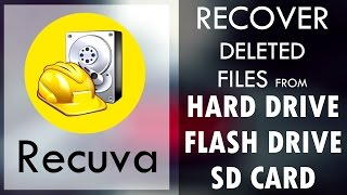How To Recover Deleted Files Using Recuva - HardDrive/FlashDrive/SDCard