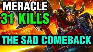 THE SAD COMEBACK - Meracle Plays Axe - Dota 2