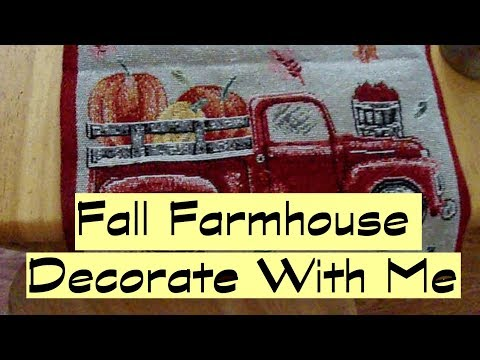 Fall Farmhouse Decorate with Me and Simple Dollar Tree DIY 2019