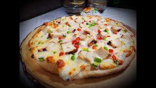 White Sauce Pizza Veg / Non Veg    With & without oven    Pizza dough   Pizza sauce   By Sooo Tasty