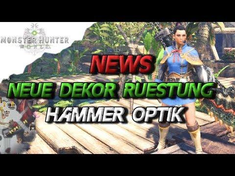 Monster Hunter World Neue Dekor Rüstung Hammer Optik Wo Bekommt