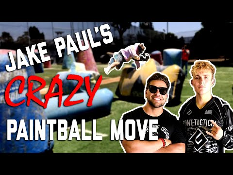 Jake Paul makes the craziest paintball move ever!!!
