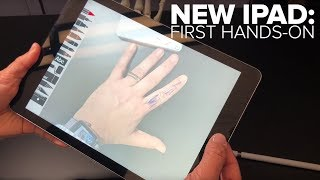 Apple's newest iPad, hands-on: it supports Pencil