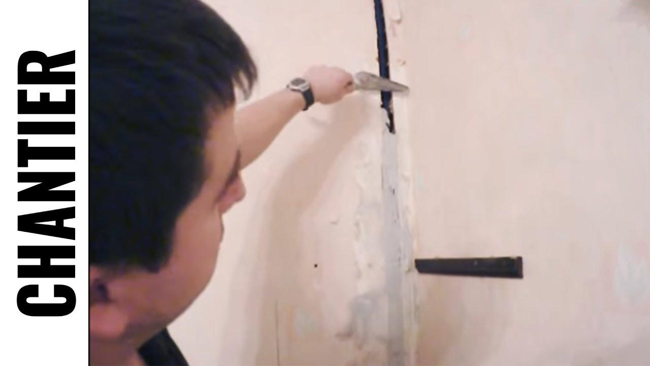 Encastrer Une Gaine Electrique Dans Un Mur Partie 3 Tirage Fil Et Platre Fr Ljvs Youtube