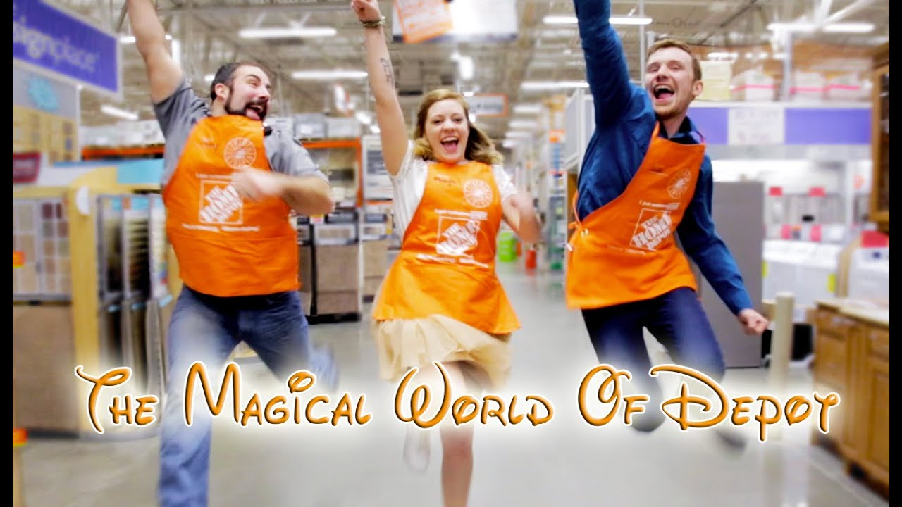 home depot disney parody the magical world of depot youtube