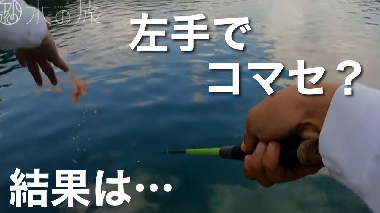 【超パワーファイター】のべ竿を思いっきり曲げる、青目の魚を狙う。【水の旅# 72】