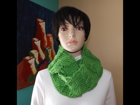 Crochet a cable circle scarf or cowl - with Ruby Stedman