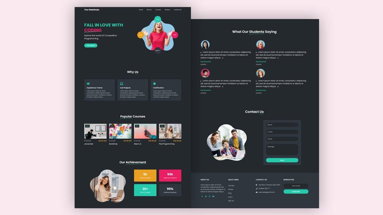 Create a Website using HTML & CSS