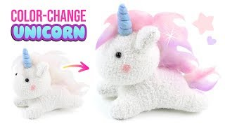 COLOR-CHANGING Unicorn Plush!! How to Make Cutest DIY Unicorn Crafts!