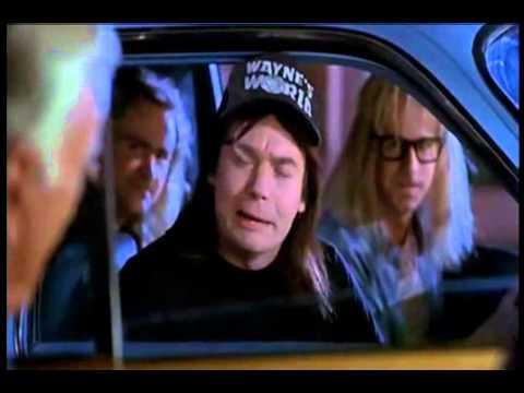 Classic! Wayne's World parodies Grey Poupon commercial