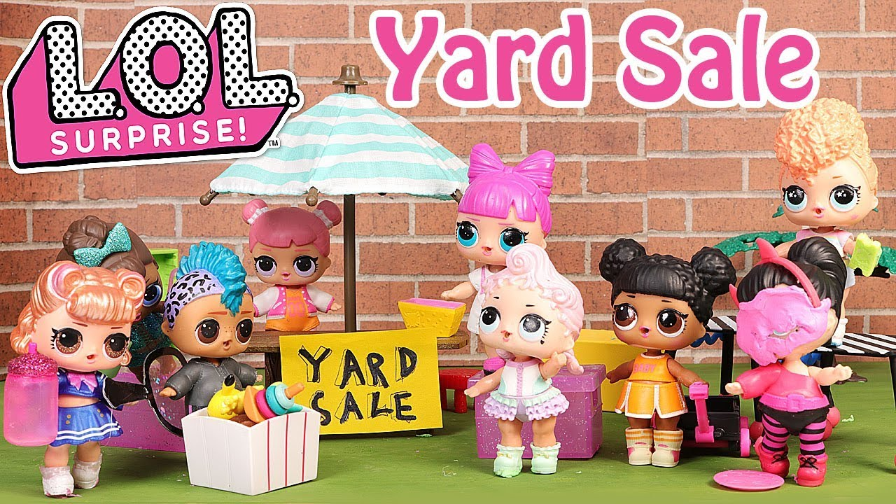 Lol Surprise Dolls Yard Sale Stop Motion Cartoon Youtube