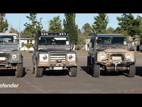 Land Rover Defender event in military training area Day1