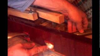 A repair deformed bent pedal of a upright piano. Как самостоятельно исправить гнутую педаль пианино