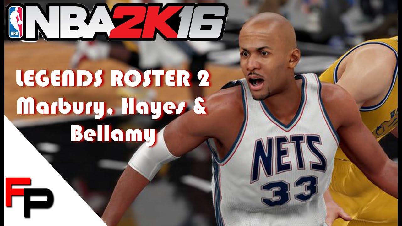 NBA 2K16 How to Make Stephon Marbury Elvin Hayes & Walt Bellamy