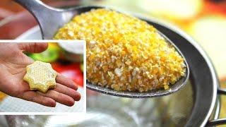 видео рецепт: печенье из кукурузной муки | крупы
