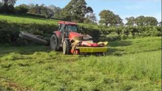 Silage 2011 - TWO DanYRheol Triples Mow the Grass.