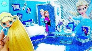 DIY Miniature Dollhouse Bedroom �� Elsa (Frozen) Disney Princess Room Decor