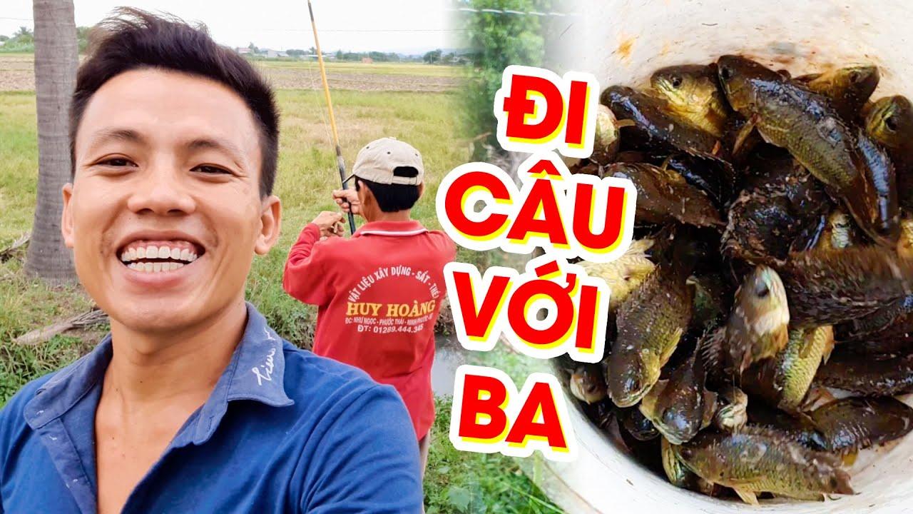 Săn Bắt Ẩm Thực 22- Buổi Chiều Đi Câu Cá Cùng Ba - Món Cá Rô Gai Kho Ngòng Hành | Xóm Dừa TV