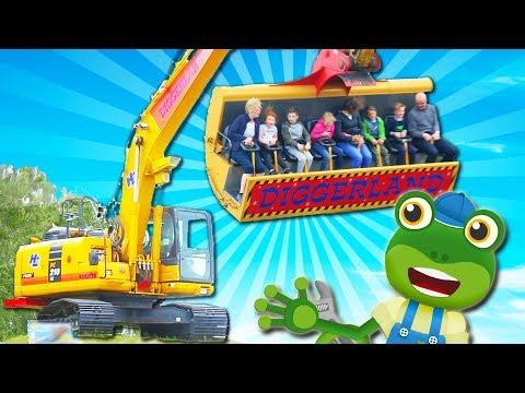Gecko Visits Digger Land | Trucks For Kids | Construction Trucks | Gecko's Real Vehicles | Cartoon