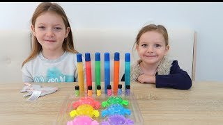 3 Culori SLIME Challenge cu Like Sara si Sofia Show