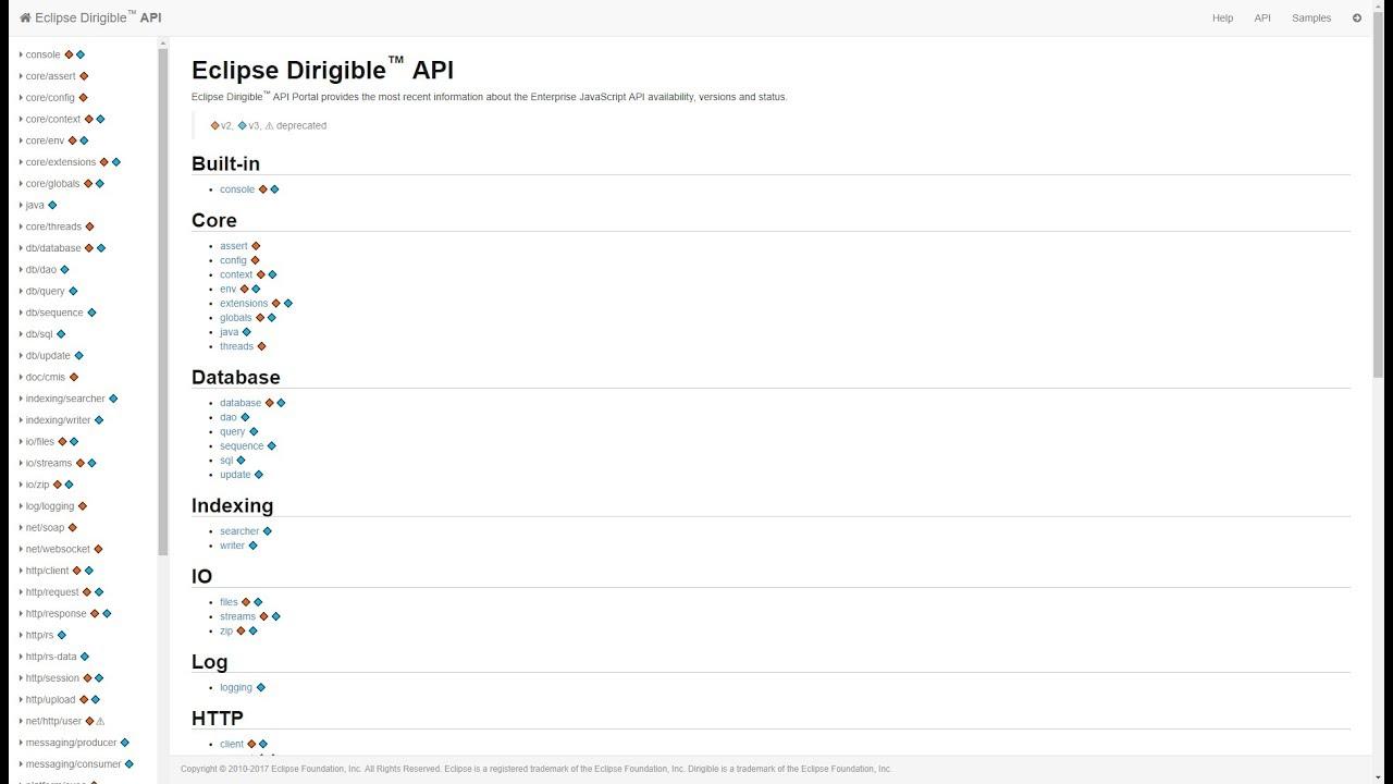 Eclipse Dirigible API - Introduction