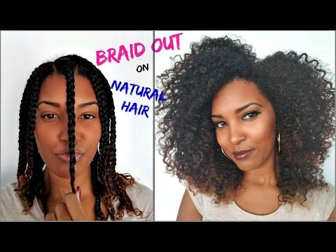 MOST DEFINED Braid Out on Natural Hair |...
