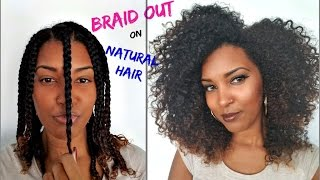 most defined braid out on natural hair   loc method  zitarose
