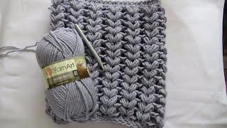 Снуд  крючком из пышных столбиков ( Мастер класс)Scarf Snood crochet