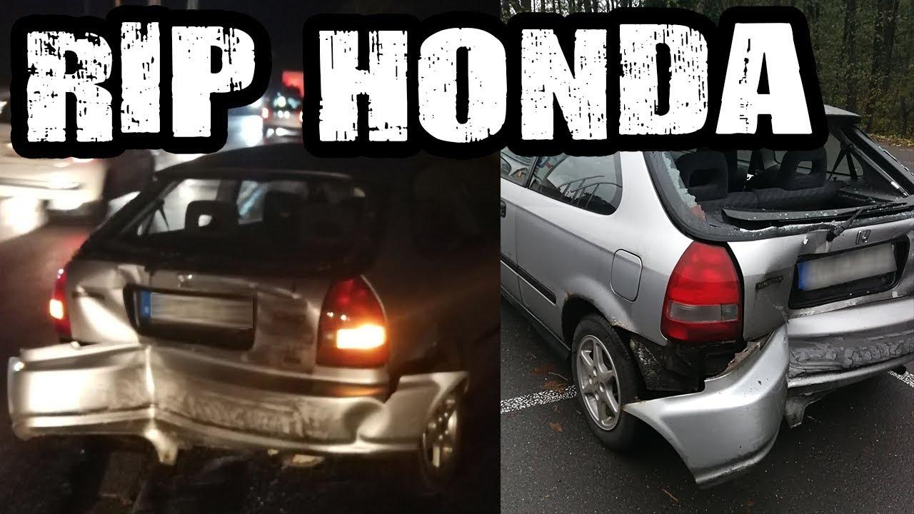 Honda Totalschaden Unfall - Abschied des schwarzen Honda :(