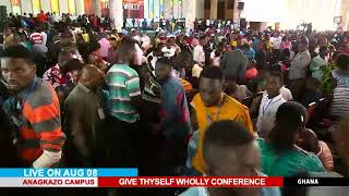 WATCH THE GIVE THYSELF WHOLLY CONFERENCE, LIVE FROM THE ANAGKAZO CAMPUS, MAMPONG - GHANA. DAY 2