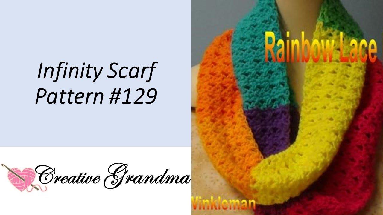 Rainbow Lace Infinity Scarf Lion Brand Mandala Yarn Free Pattern