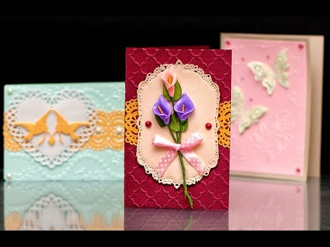 DIY Card with Flowers | Greeting Card with Embossing |  Elegant Style Card | Handmade Cards