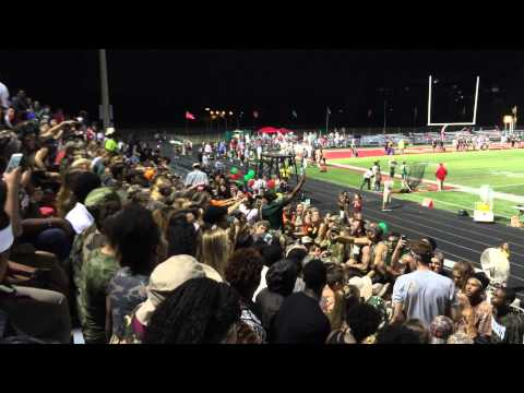 Lawrence North High School students singing at LN vs LC football game @LN. September 4, 2015