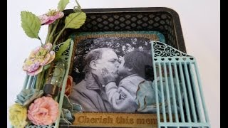 Altered Wood Photo Shadow Box Frame Part-3