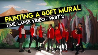 Painting A 40ft Mural Time-lapse - Part 2 by MrASingh