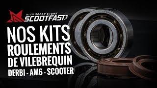 Kits roulements de vilebrequin pour mécaboîte Derbi, AM6 et Scooters