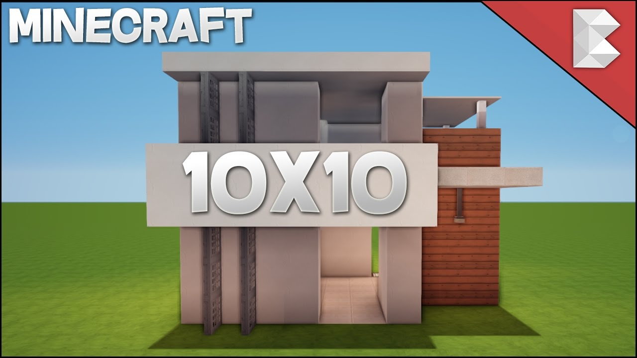 Minecraft 10x10 modern house tutorial easy to follow for Minecraft maison design