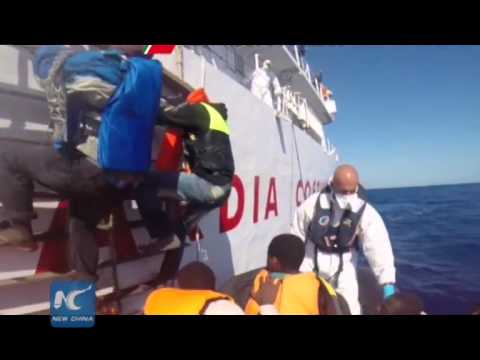 Baby born as migrants rescued