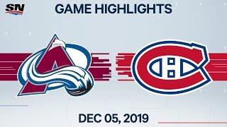 NHL Highlights   Avalanche vs Canadiens – Dec. 5, 2019