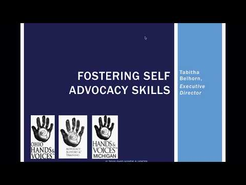 Lunch & Learn; Fostering Self Advocacy Skills in Students who are Deaf or Hard of Hearing
