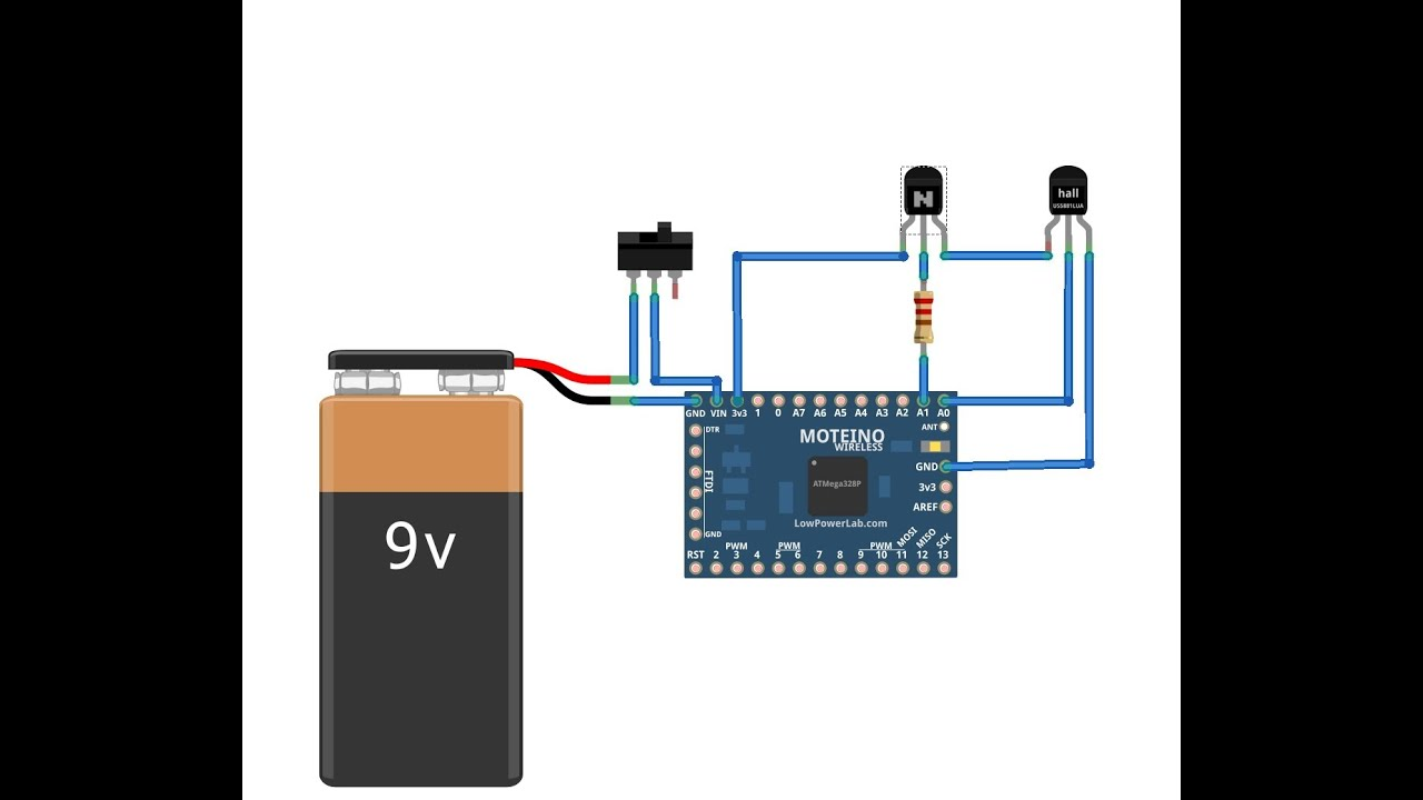 Driveway Hall Effect Sensor Schematic Diagrams Circuit Page 13 Sensors Detectors Circuits Nextgr Mail Box Notifier With Moteino Wireless Arduino Clone Youtube