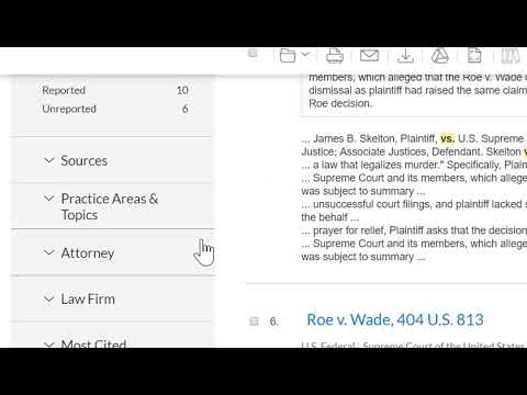 Nexis Uni Legal Case Search
